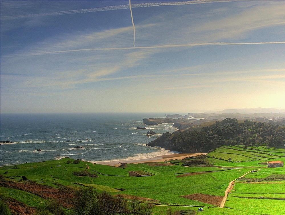 Foto playa La Entrada. Costa de Asturias