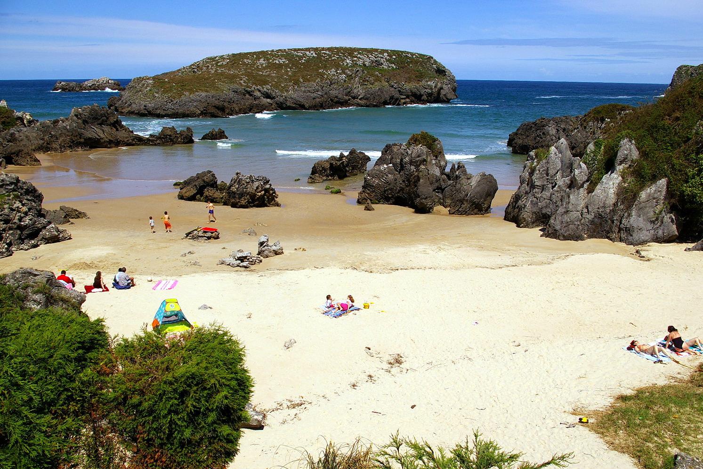 Foto playa Barro. Playa de Sorraos, Barro, LLanes, Asturias, España