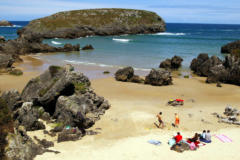 Foto playa Barro. Playa de Sorraos , Barro, LLanes, Asturias