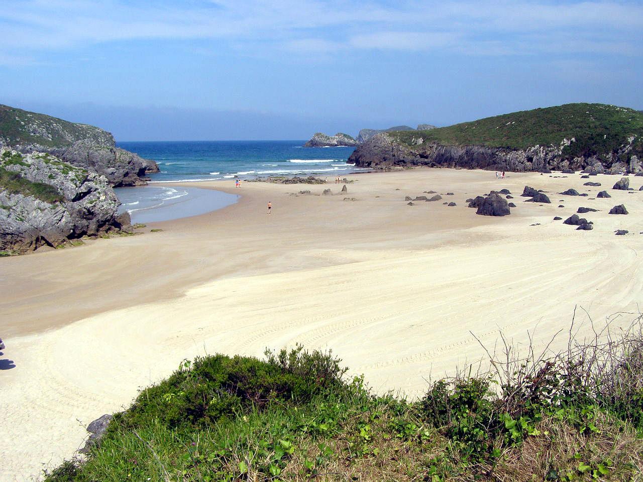Foto playa Palombina. Playa del Borizo, Barro, Celorio, LLanes, Asturias