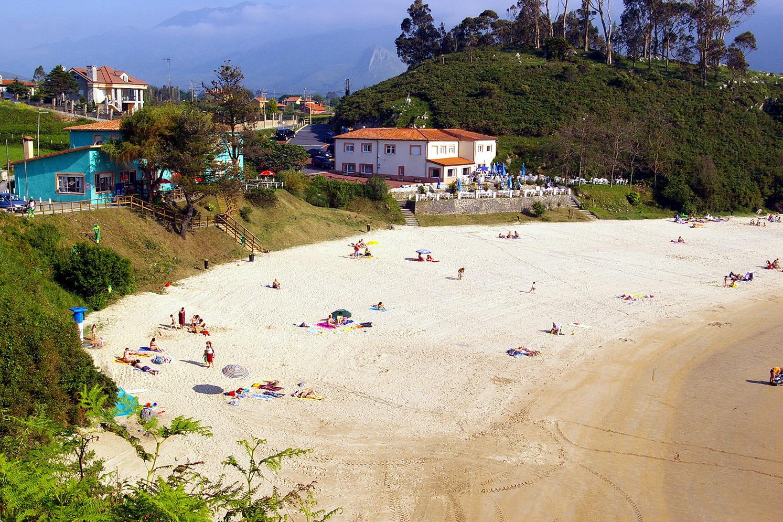 Foto playa El Portiello de San Martín. Playa de Poo, LLanes, Asturias