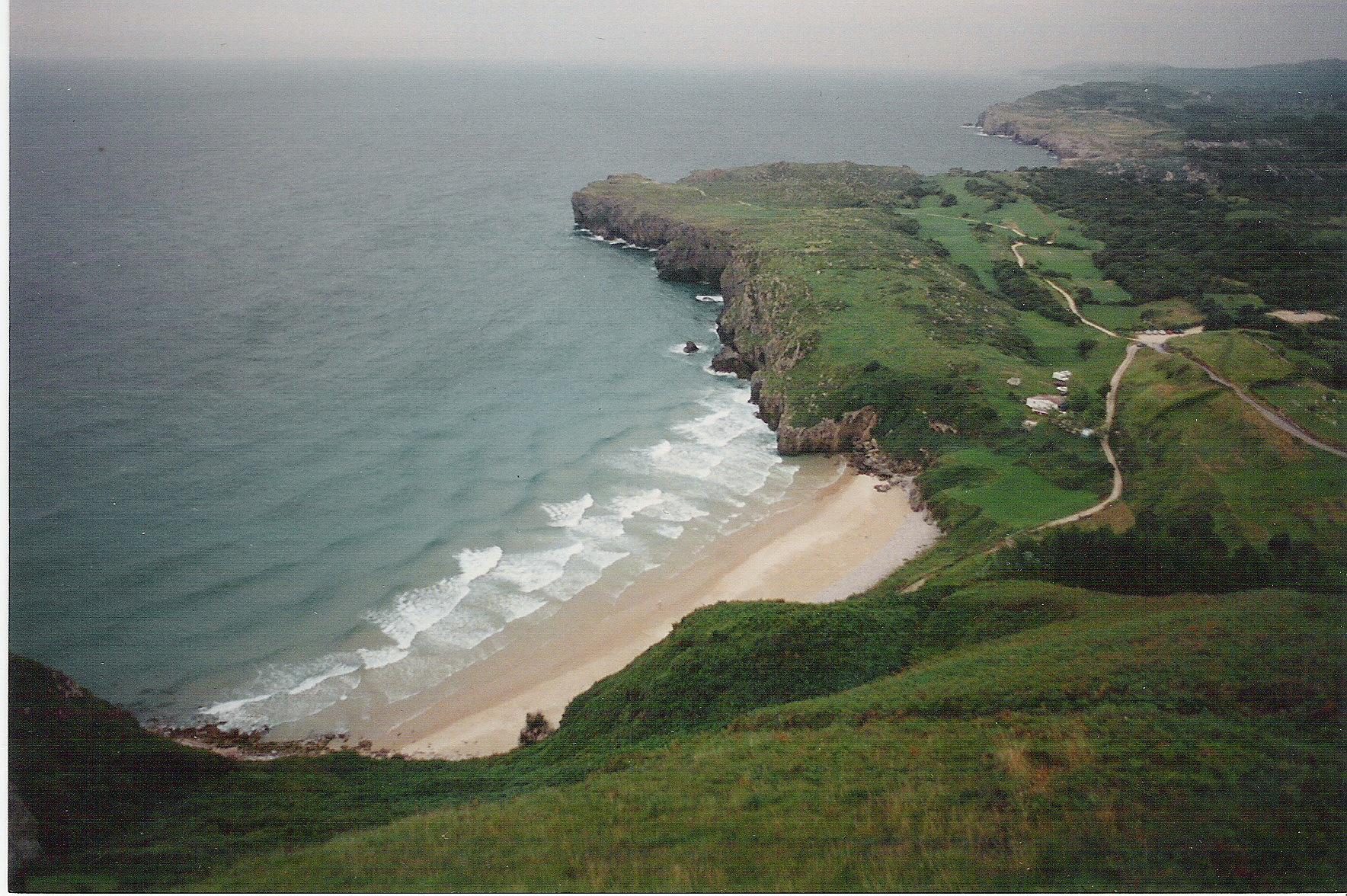 Foto playa Andrín. Playa de Andrin (Asturias)