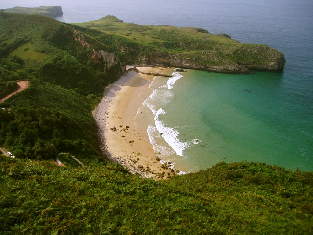 Foto playa Andrín. spiaggia asturiana