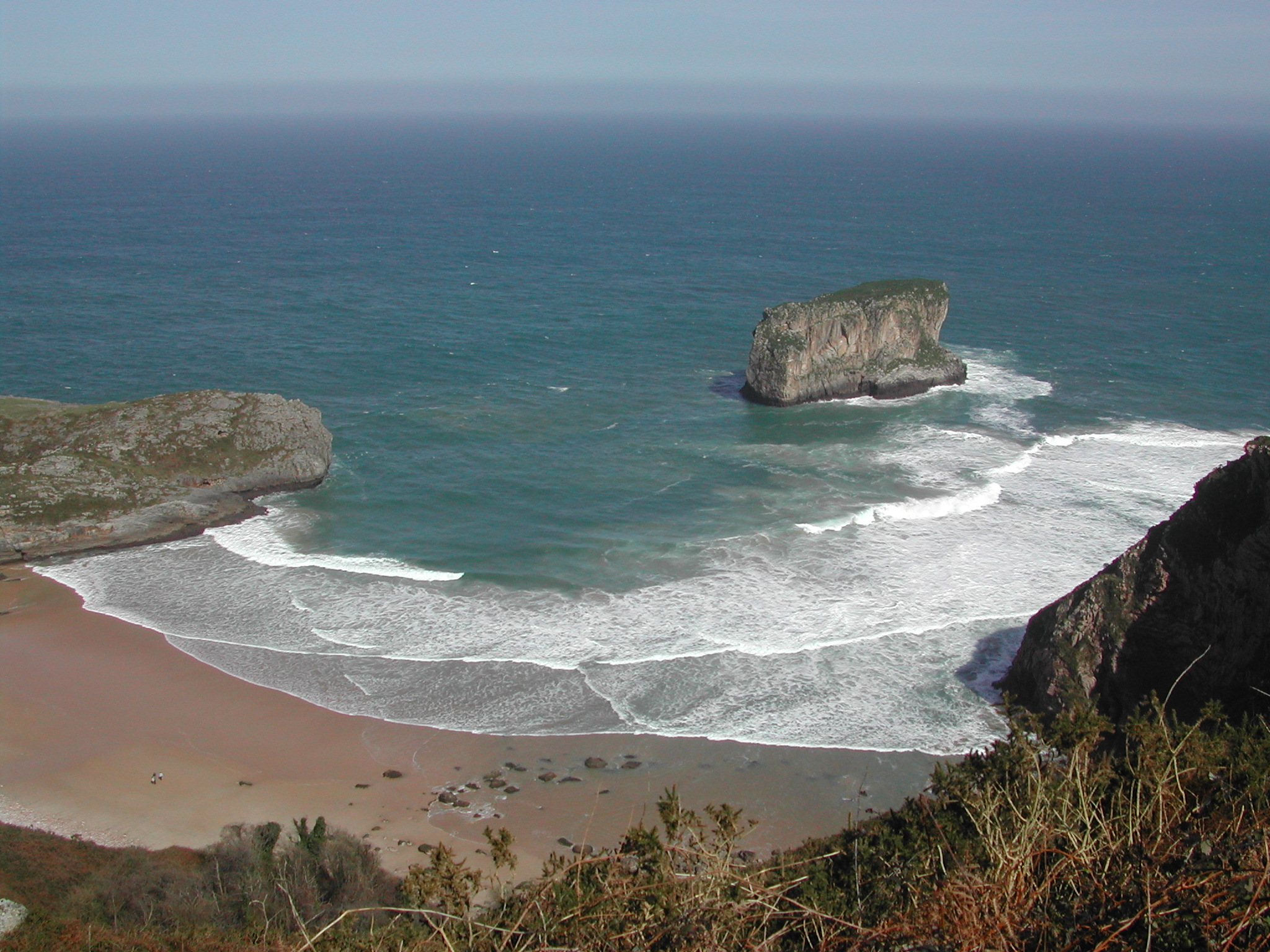 Foto playa Andrín. Playa de Ballota(Asturias)