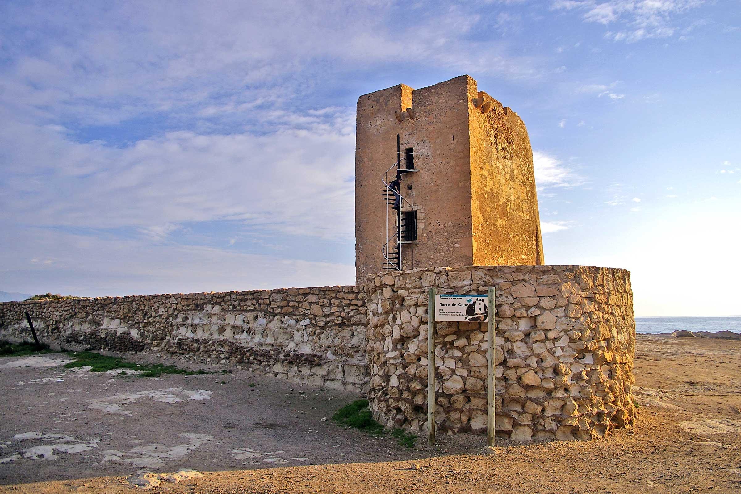 Foto playa La Fuente. Torre de Cabo Cope (GR-92)