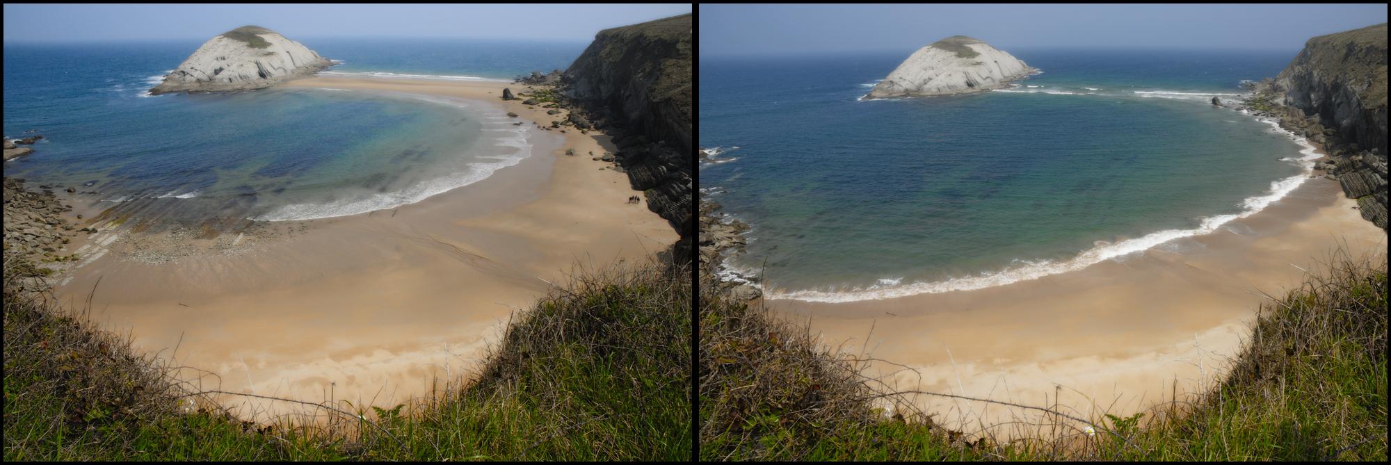 Foto playa Santiago. subiendo la marea