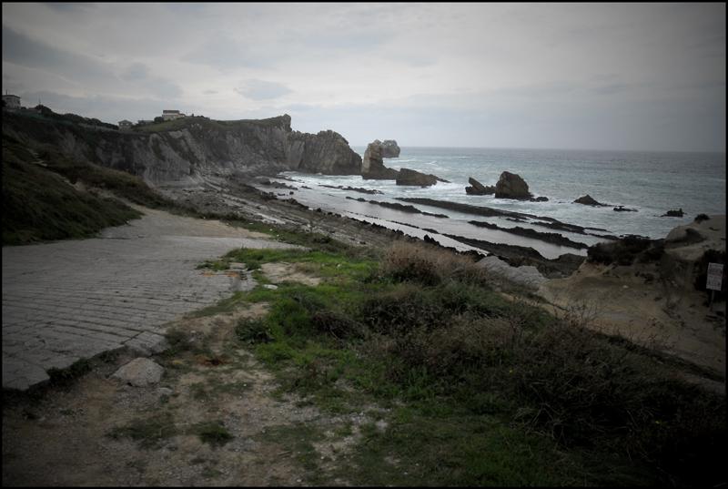 Foto playa Santiago. Playa de la Arnia. Linea de costa