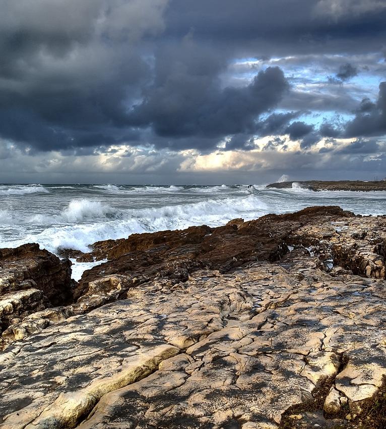 Foto playa El Bocal. Marejada en la costa de la Maruca. Santander