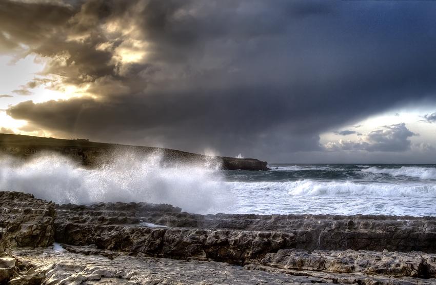 Foto playa El Bocal. Marejada en la Maruca. Santander.
