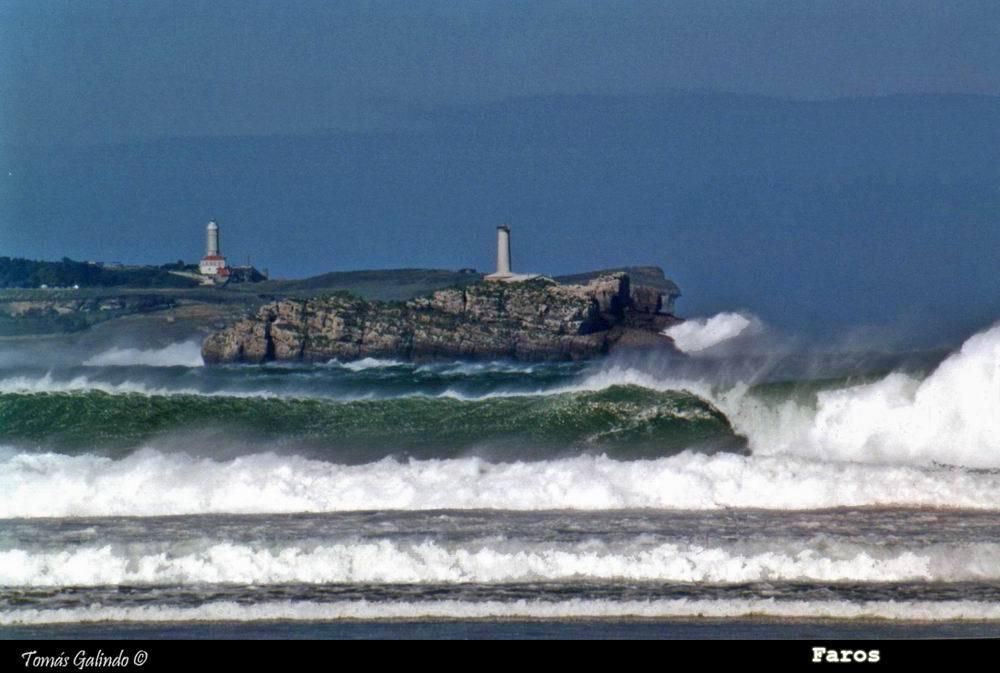 Foto playa Somo. Faros