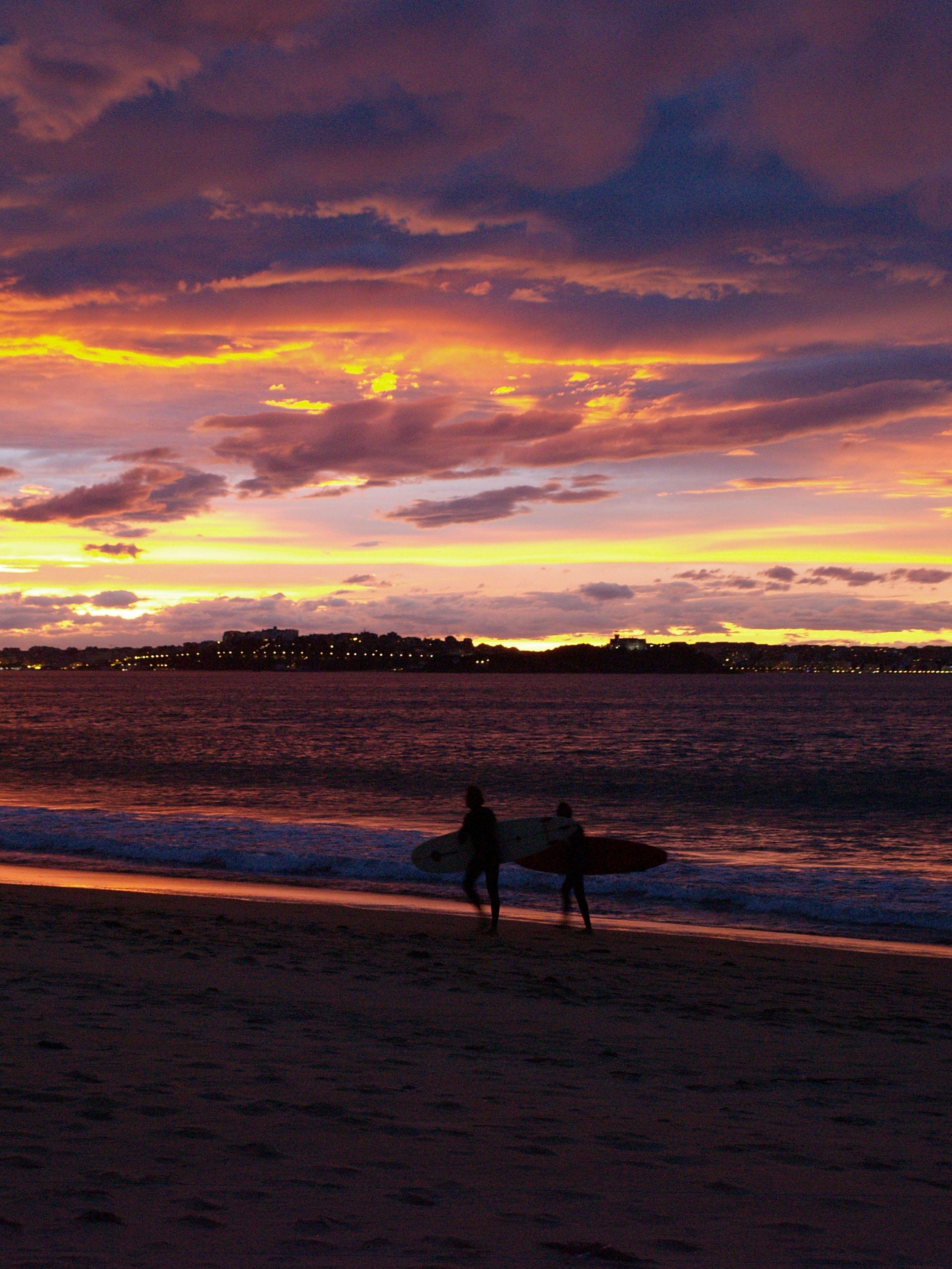 Foto playa Loredo. SOMO DE RETIRADA