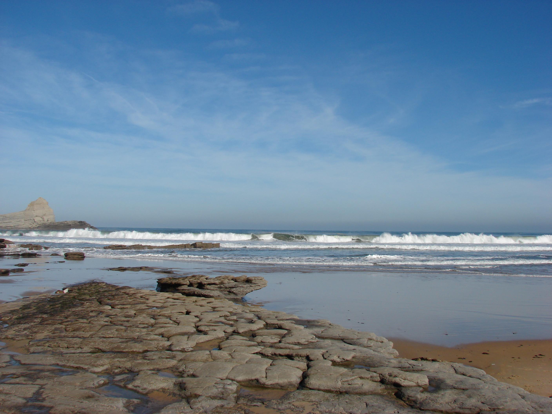 Foto playa Arenilla. Piedra Y Rocas (Playa De Langre,Cantabria)