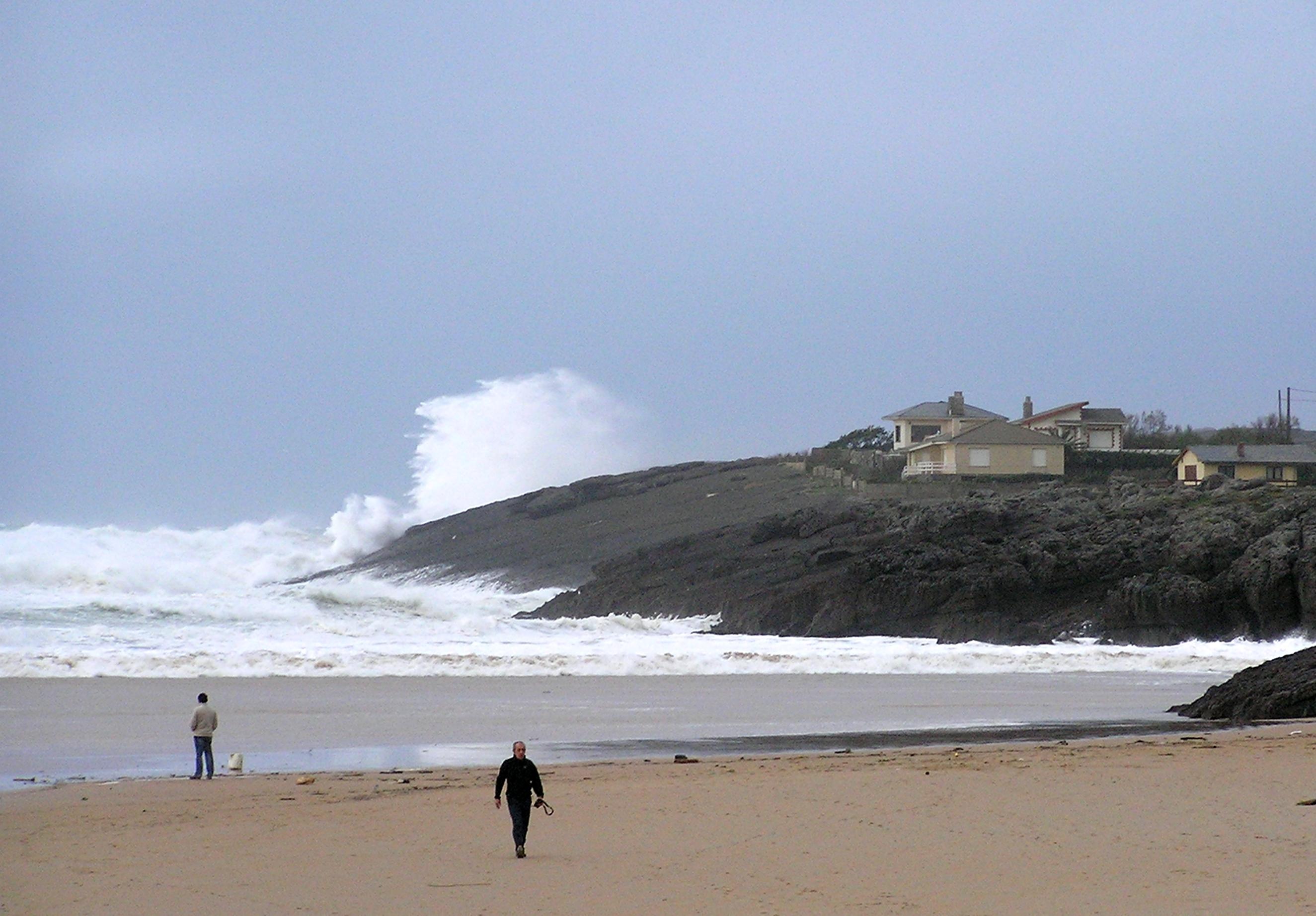 Foto playa Antuerta. Un día revuelto