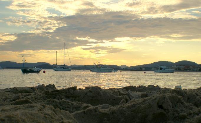 Foto playa Regatón. Atardecer en Laredo