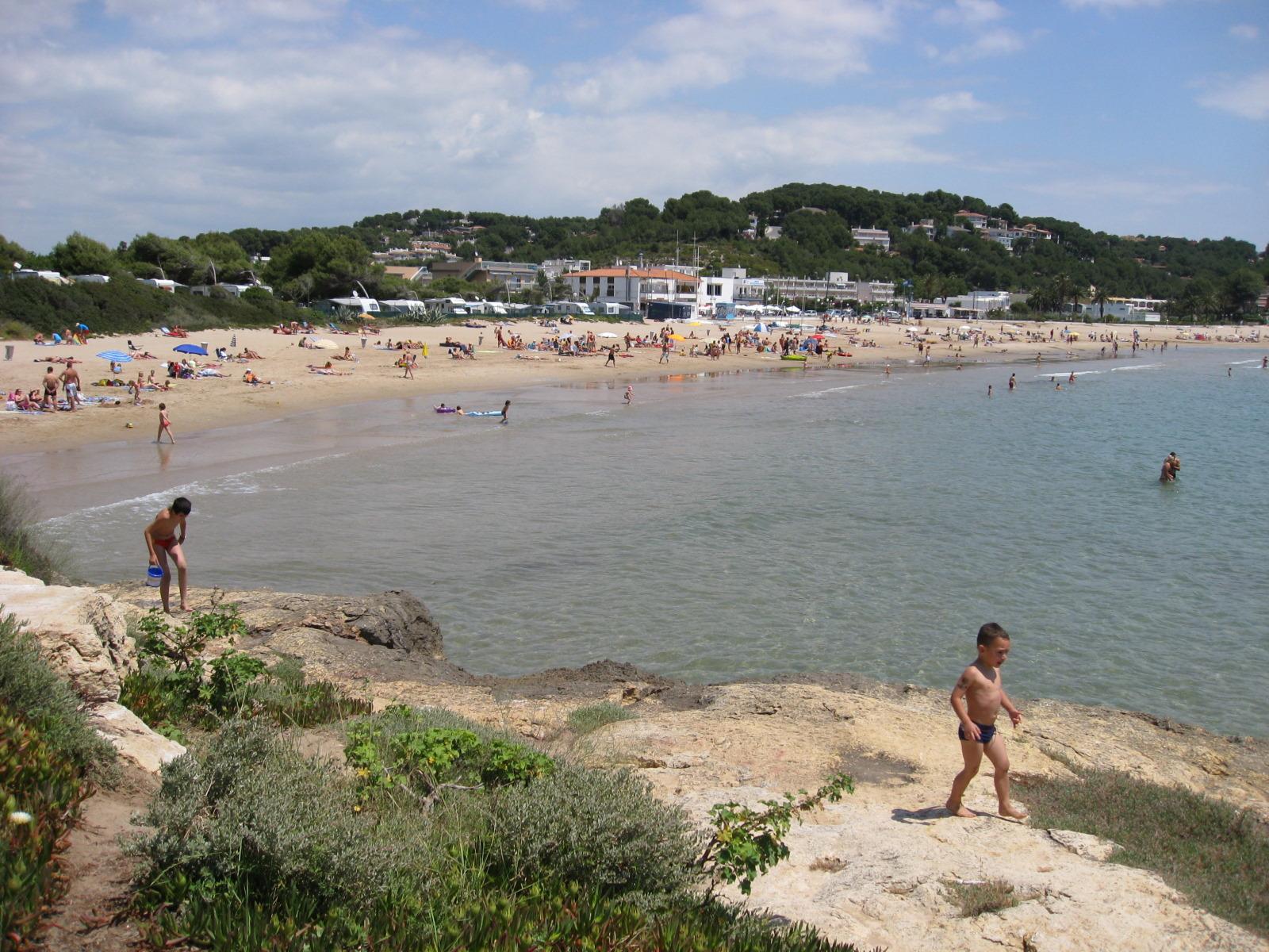 Foto playa La Móra. Platja punta de la Mora