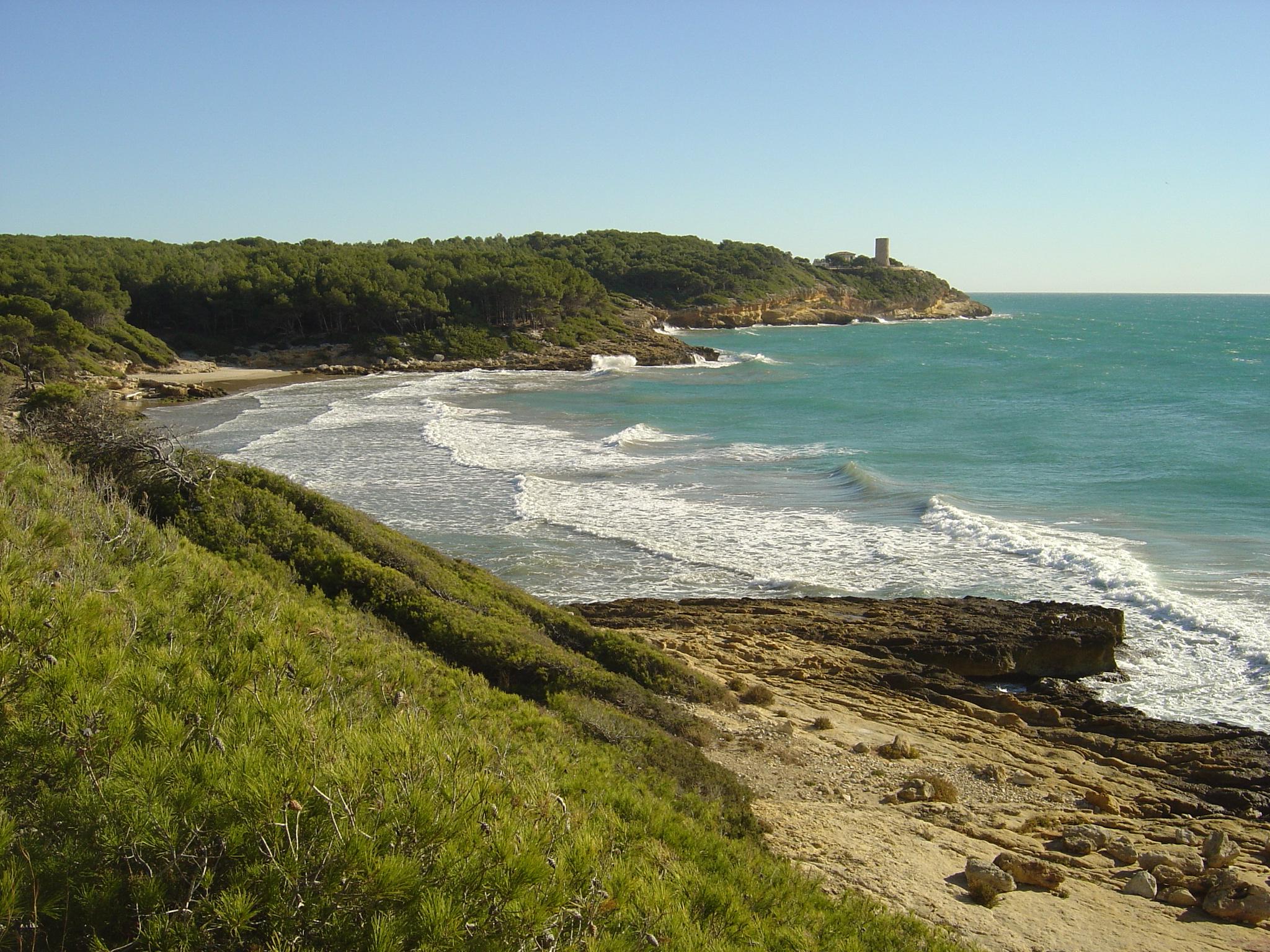 Foto playa Platja Fonda / Cala Waikiki. Tarragona Platja de la Roca Plana