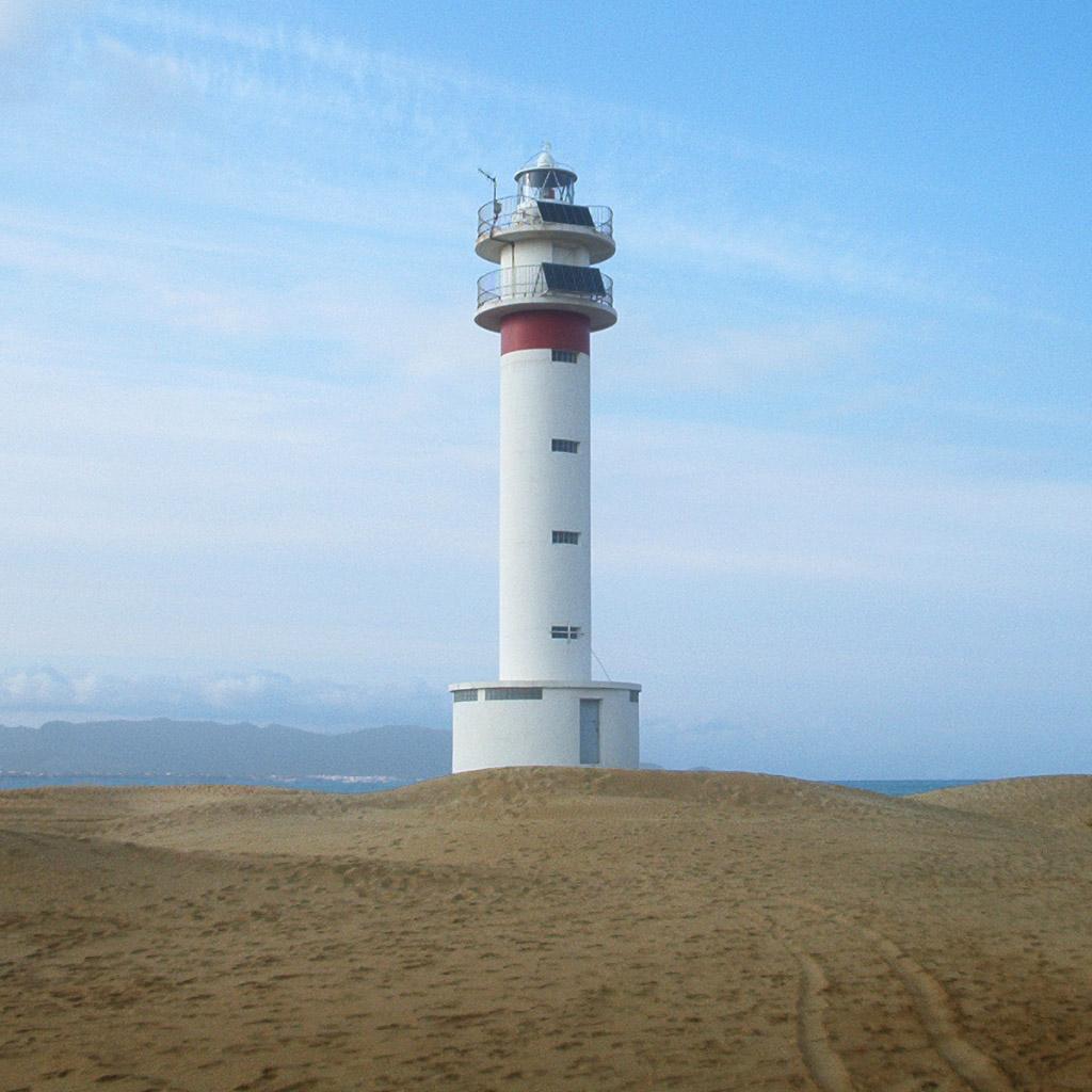 Foto playa Punta del Fangar. Delta de l´Ebre, far de la Punta del Fangar