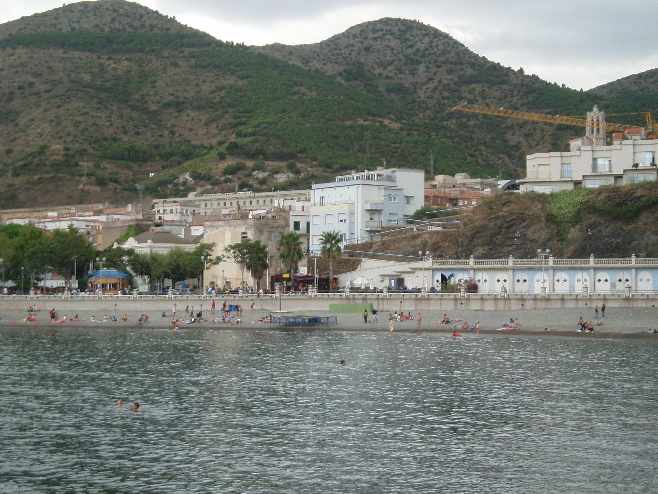 Foto playa Portbou. Port Bou (Espagne)