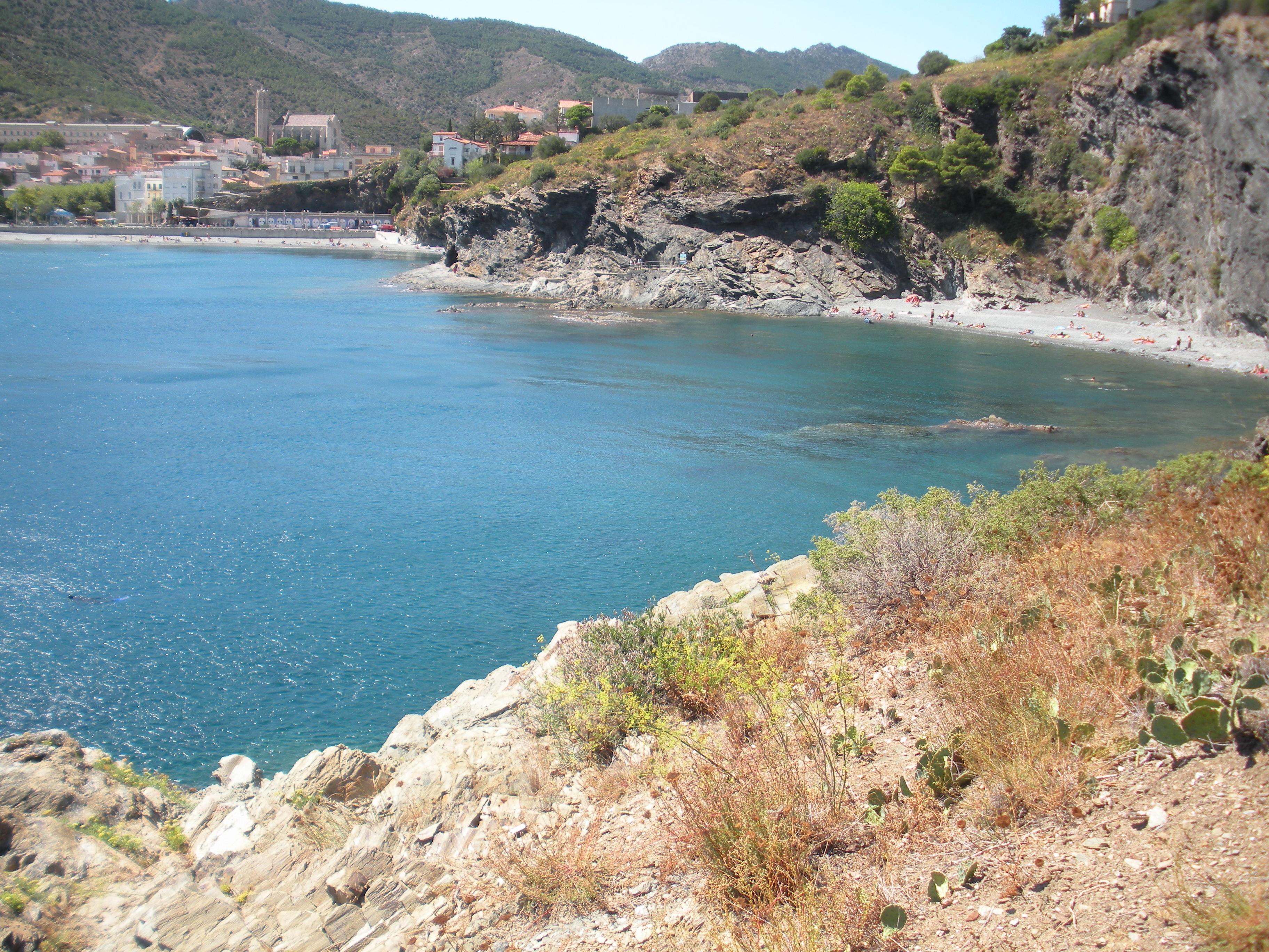 Foto playa Claper. Portbou