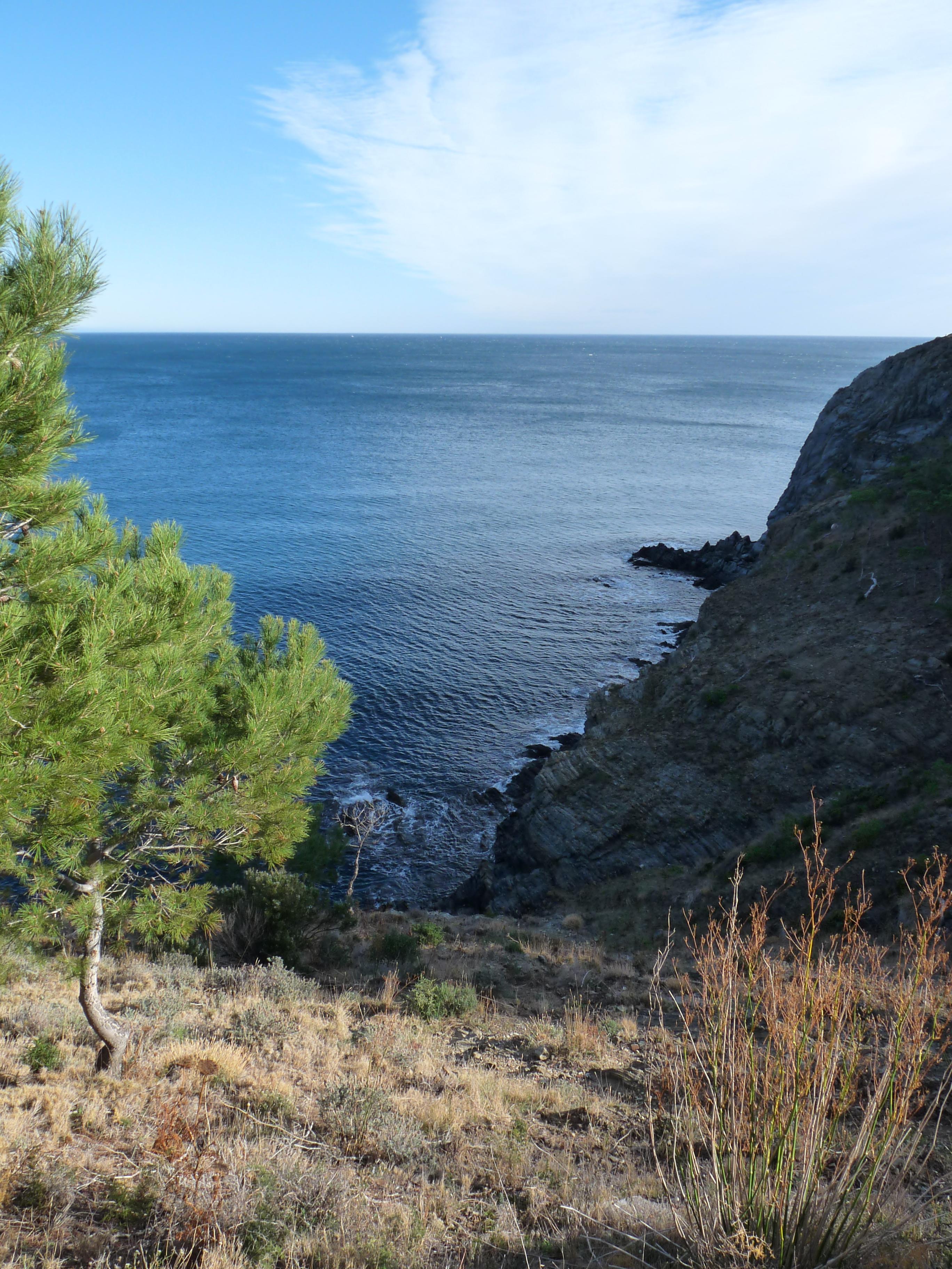 Foto playa Colera. Costa Brava. Na południe od Colery