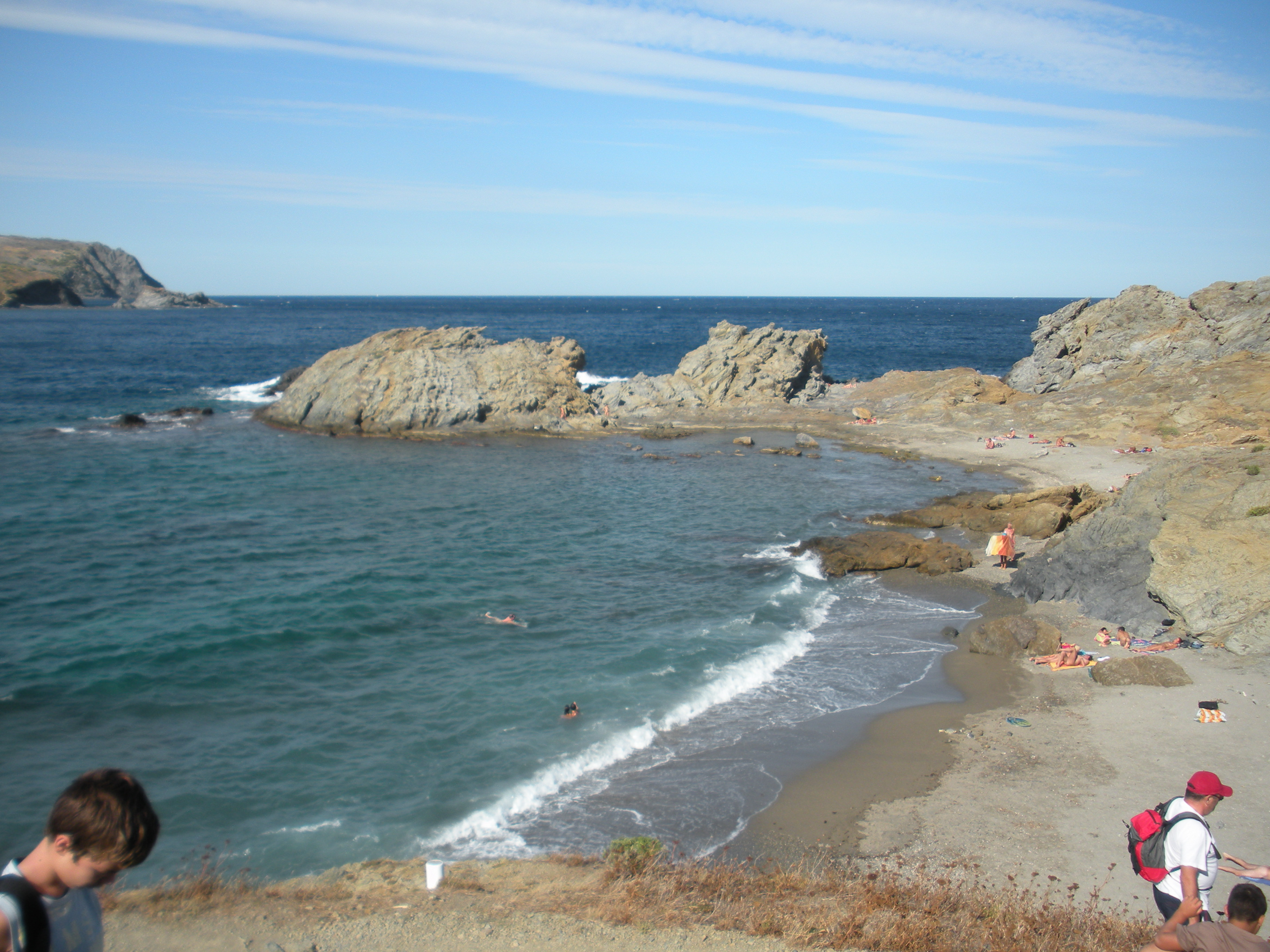 Foto playa Canyelles / Cap de Ras. Platja del Borró - Colera