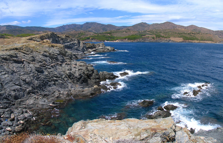 Foto playa Canyelles / Cap de Ras. Depuis le Cap de Ras