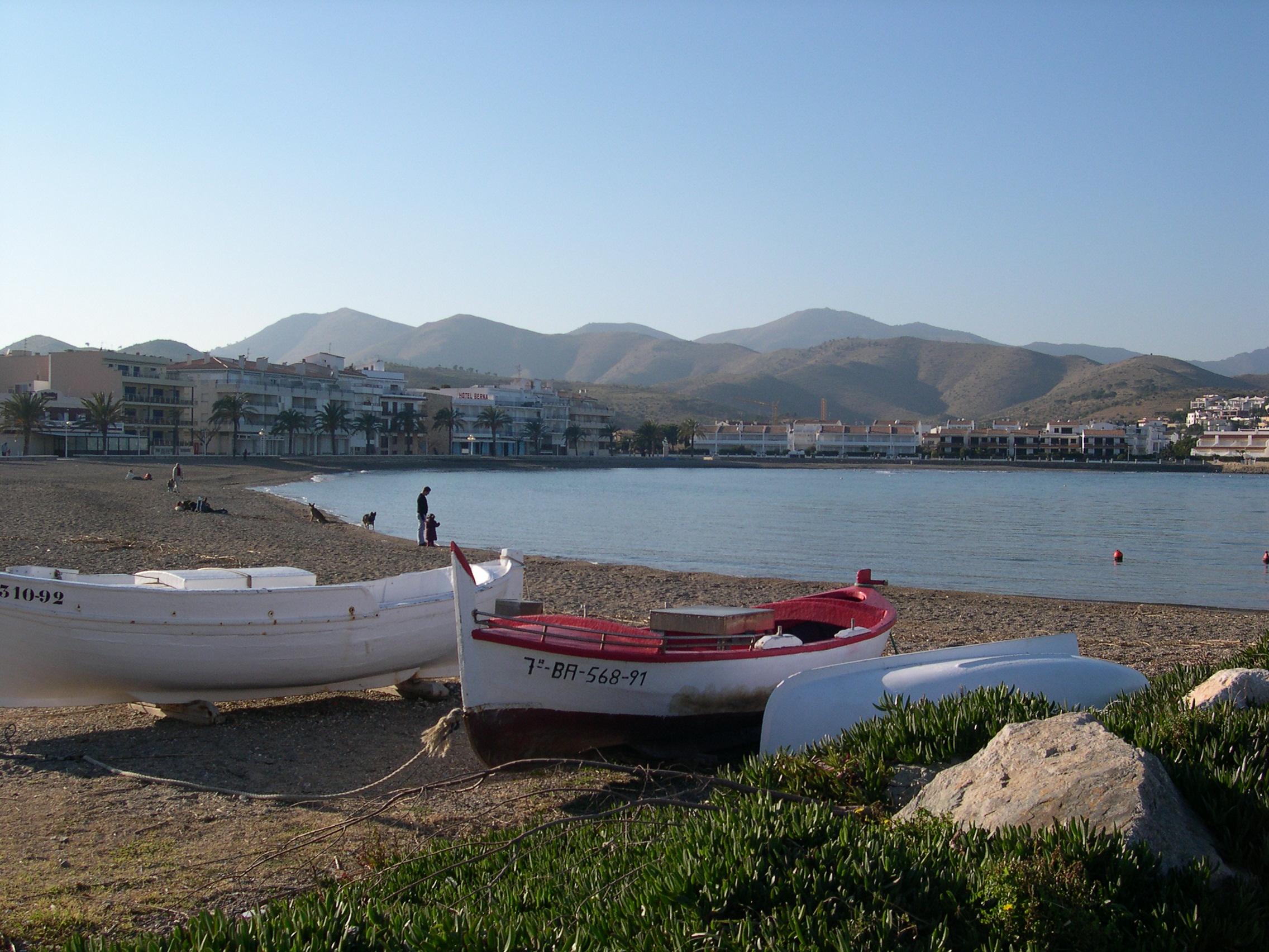 Foto playa La Farella. Platja del Port de Llançà