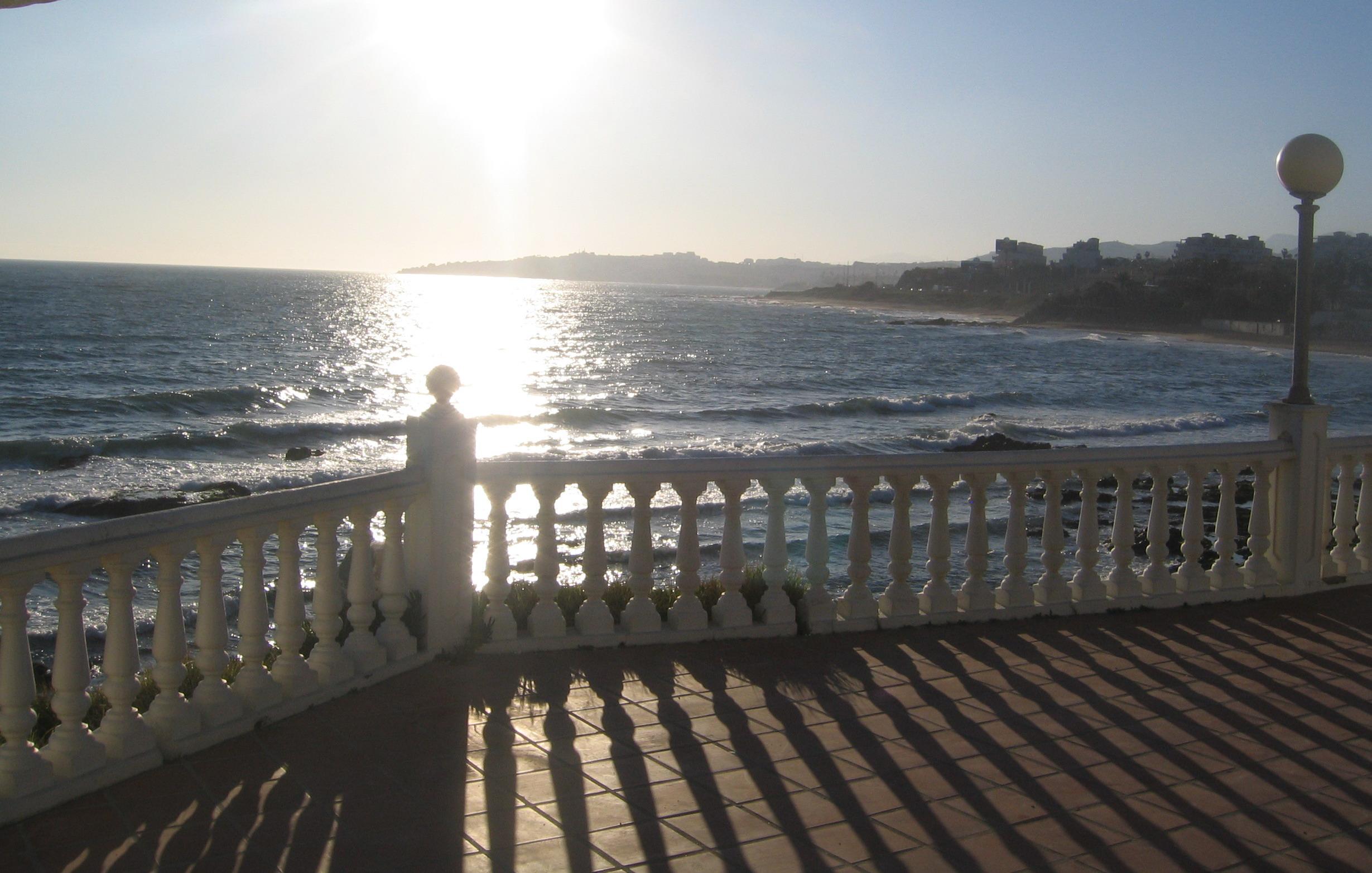 Foto playa El Chaparral. ATARDECER