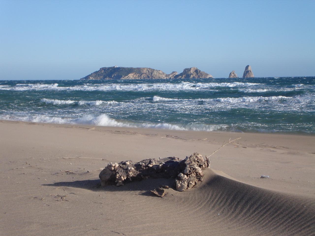 Foto playa Mas Pinell. TRAMONTANA Y LAS ISLAS MEDAS