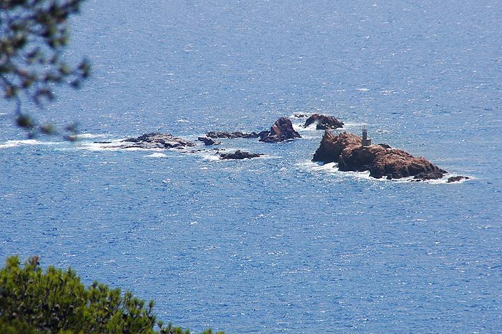 Foto playa Cala Estreta. Les Formigues