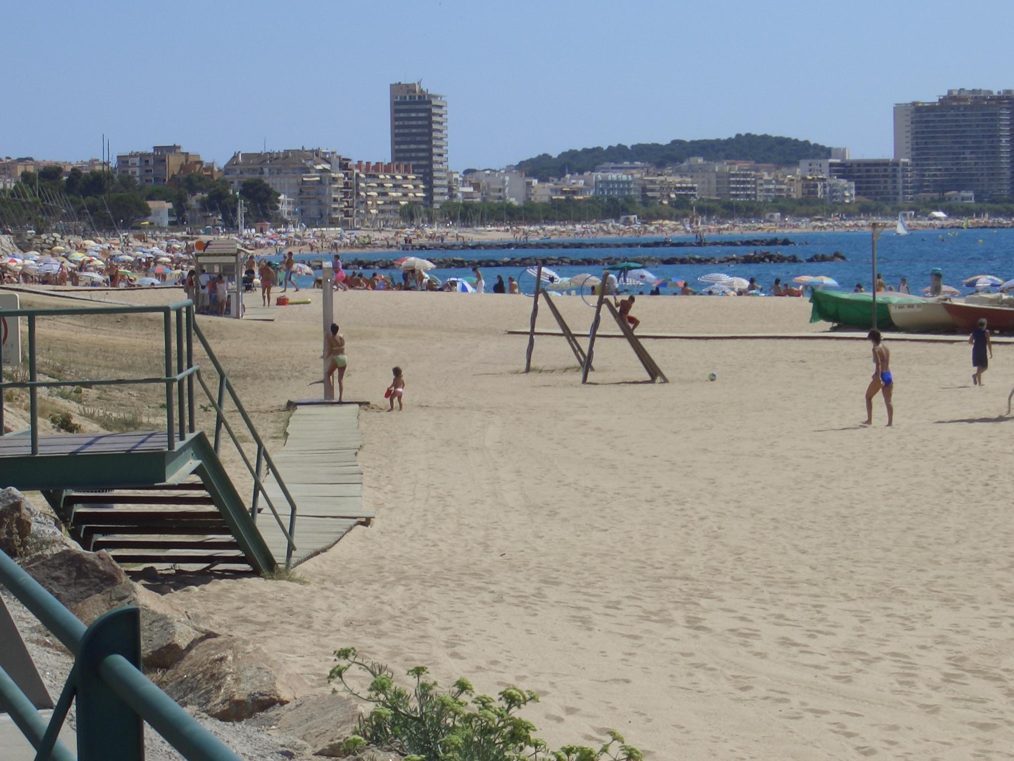 Foto playa Cala de la Roca del Paller. Sant Antoni de Calonge, vista de Palamós