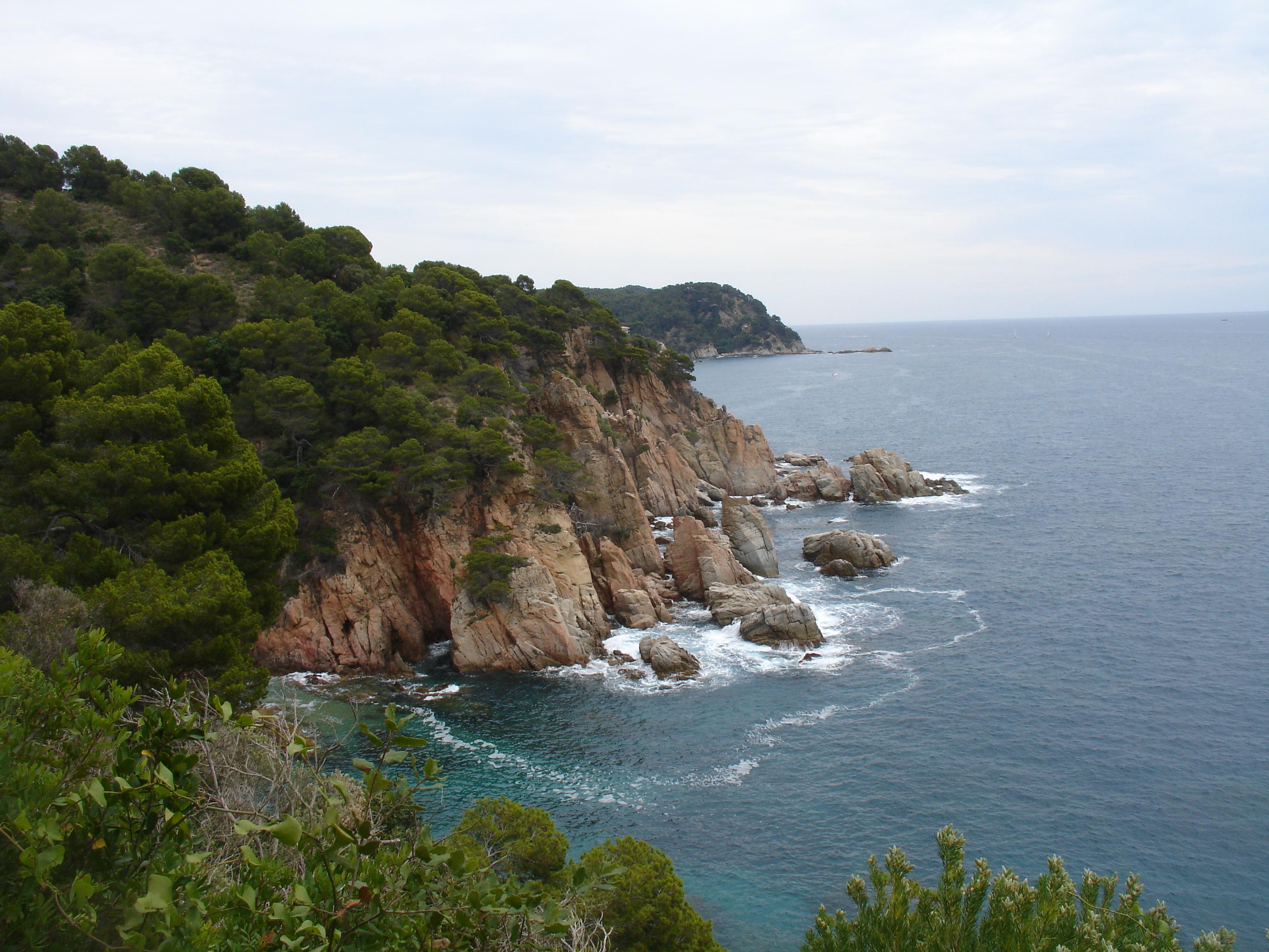 Foto playa Cala Morisca. vistes desde el Gr 92. Lloret Tossa