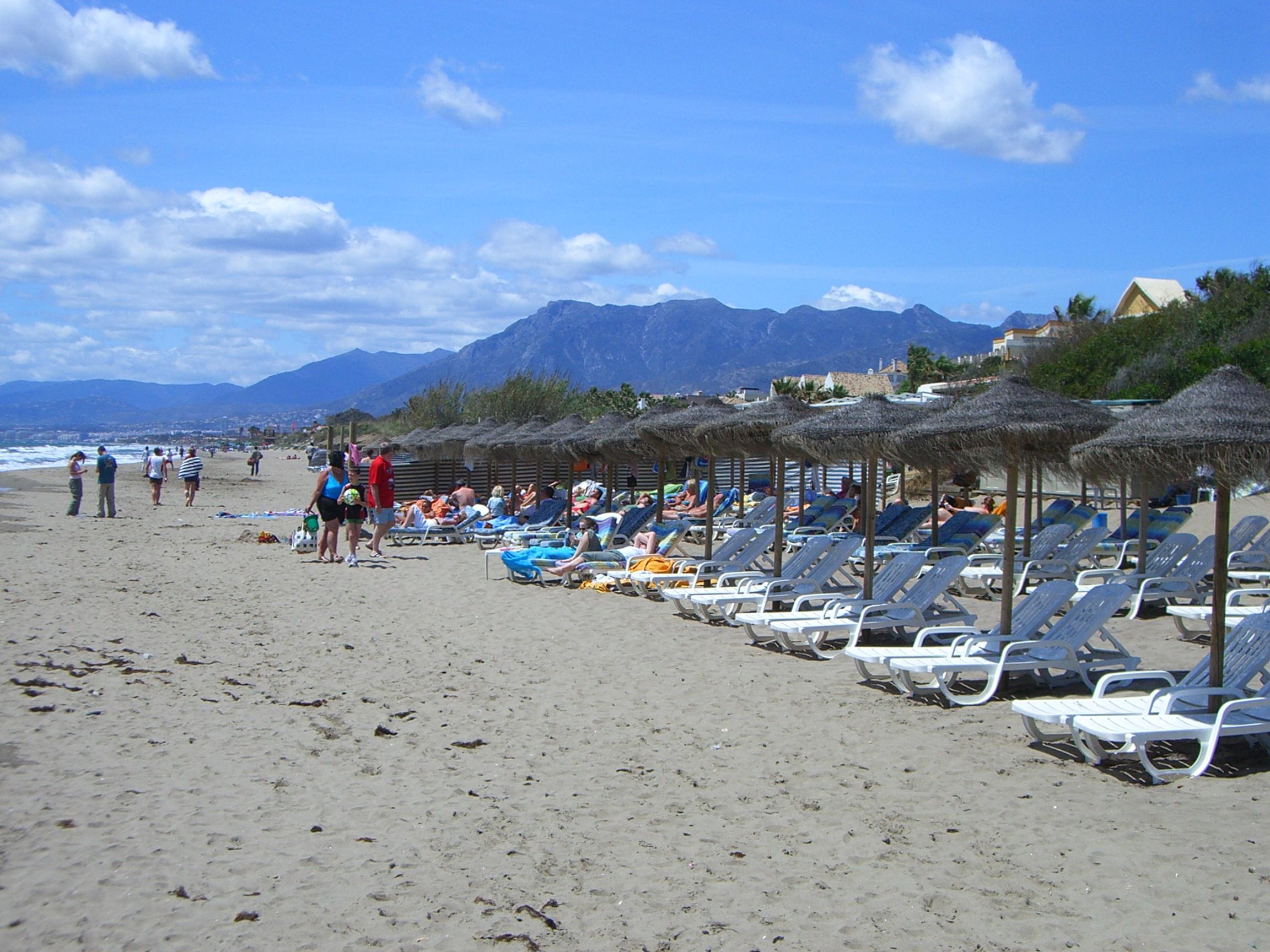 Foto playa La Víbora. Marbella