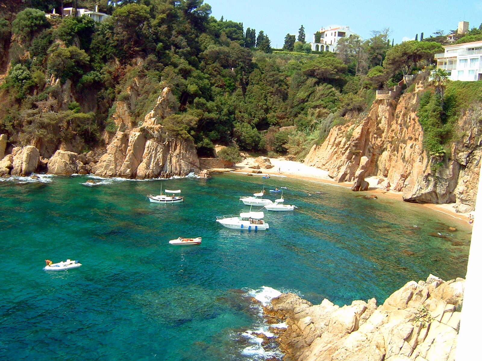 Foto playa Els Capellans / Freu / Punta Santa Ana. Blanes