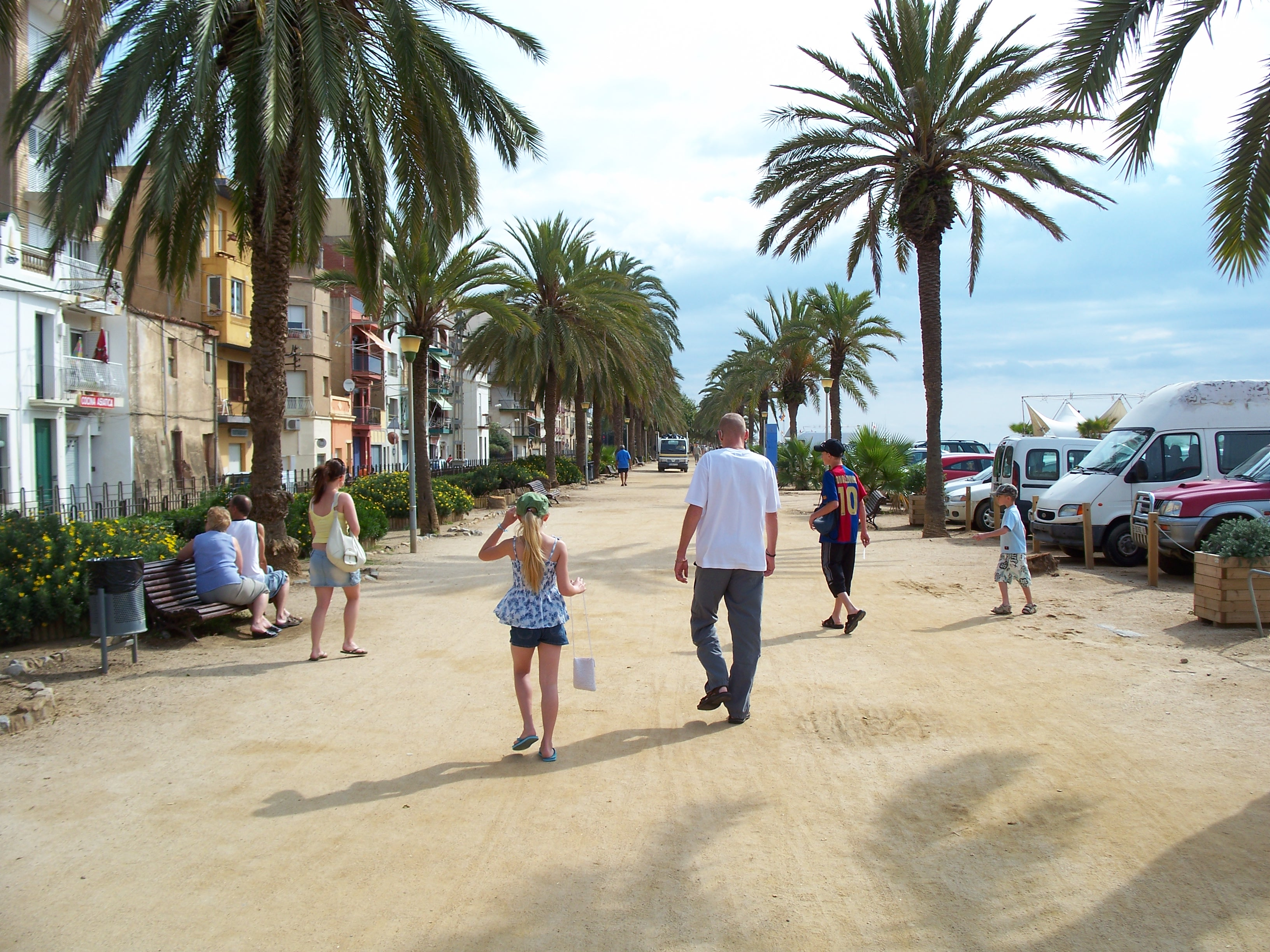 Foto playa Les Roques. Calella,Costa brava/August 2007