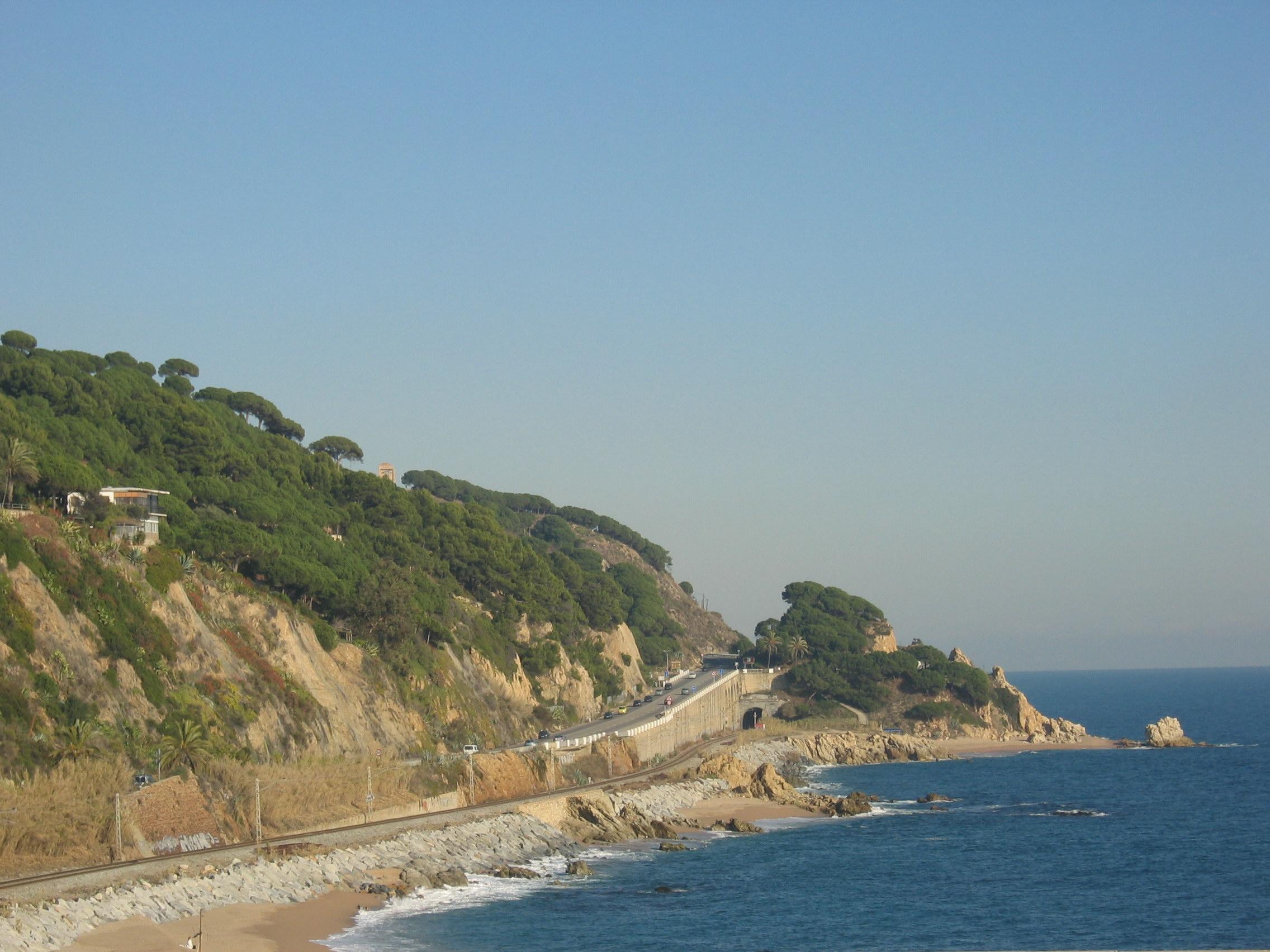 Foto playa El Morer. Costa del Maresme