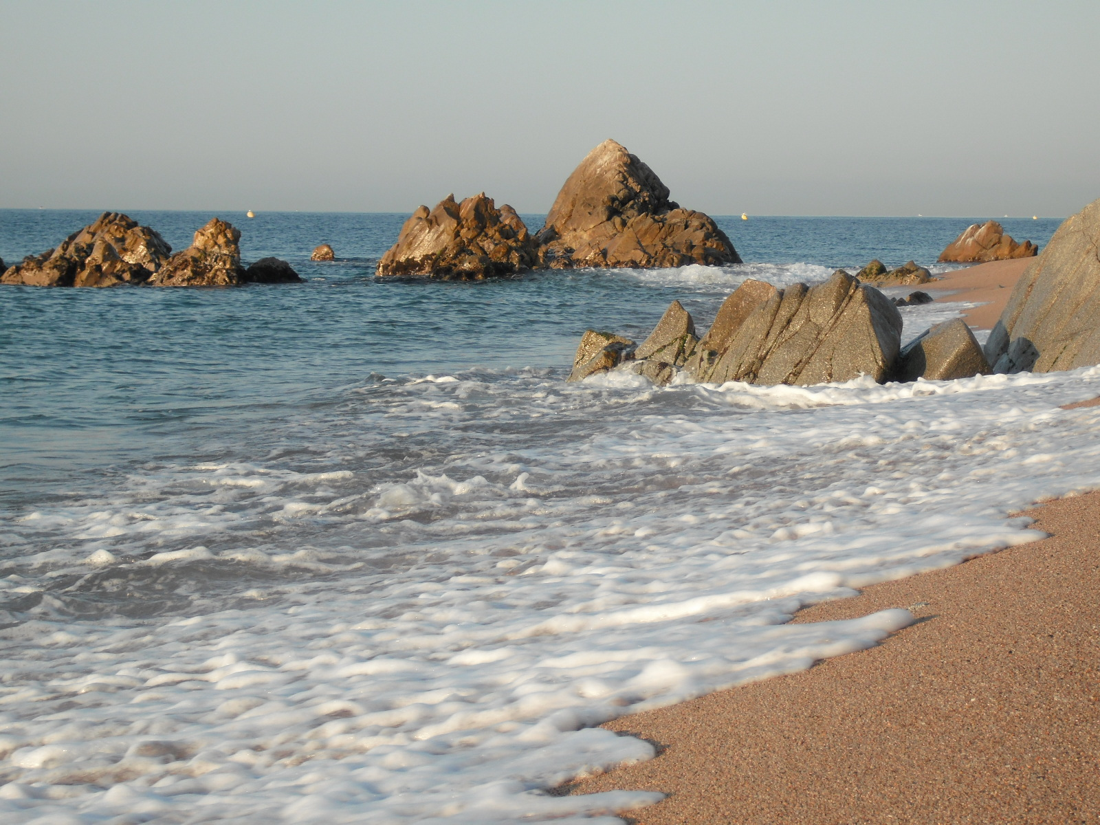 Foto playa La Murtra. Playa nudista en Sant Pol de Mar