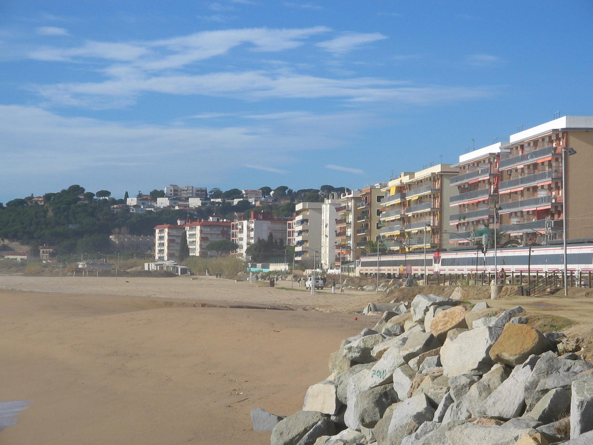 Foto playa El Cavaió / Tercera Playa. Canet de Mar Playa