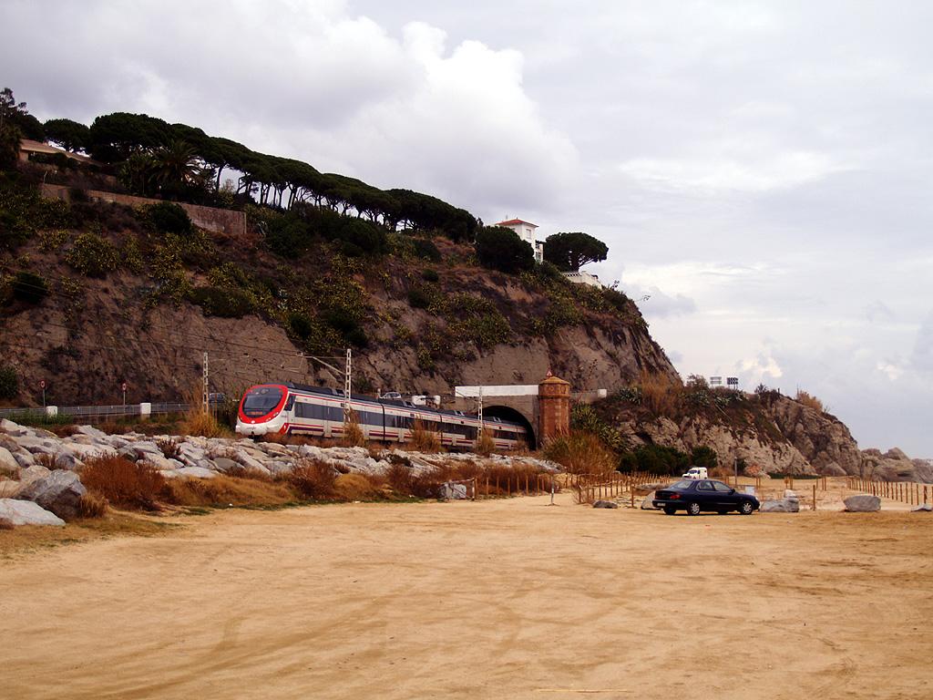 Foto playa La Picordia / Primera playa / Playa de Arenys. Túnel