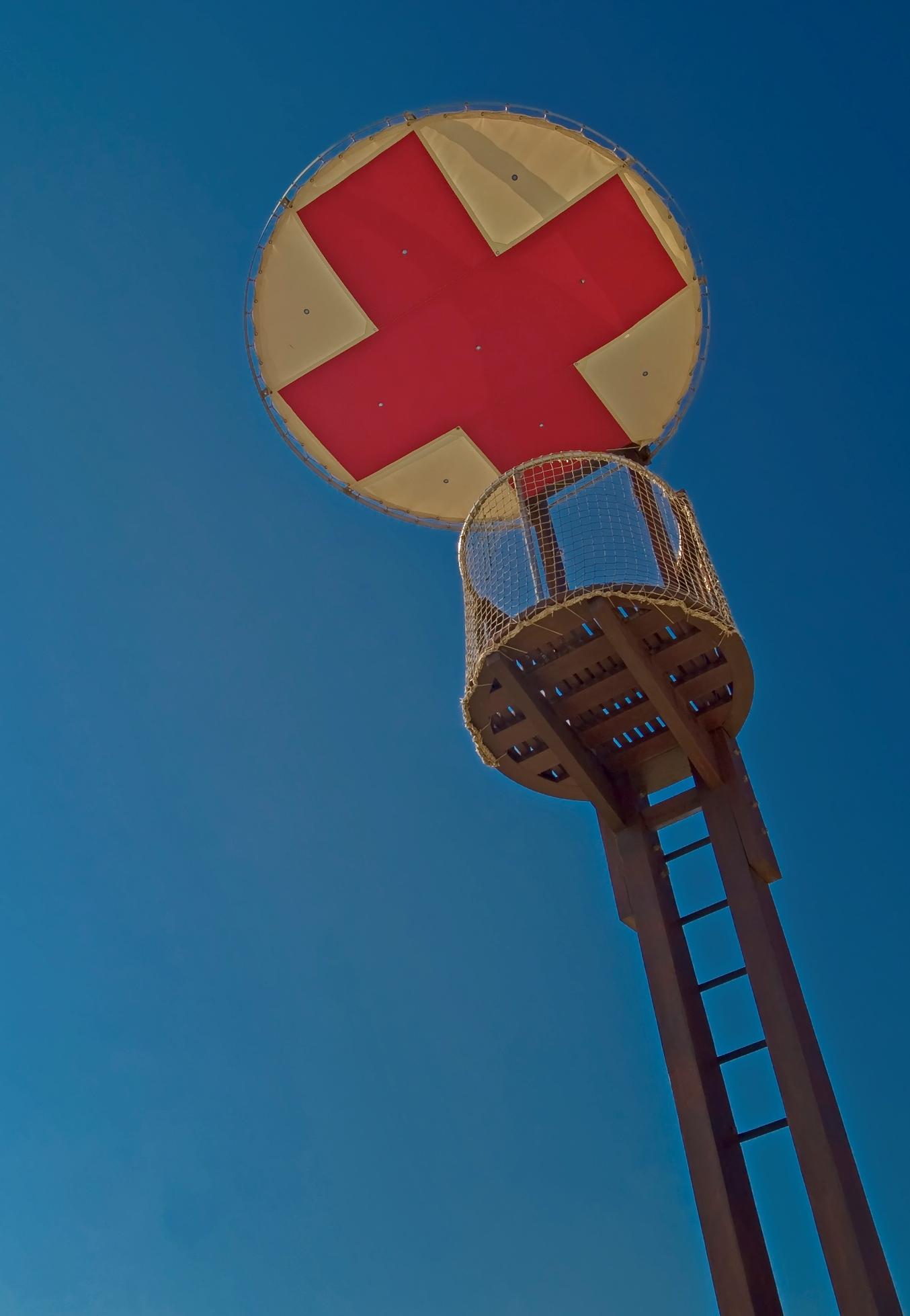 Foto playa Sant Vicenç de Montalt. A l´ombra de la creu