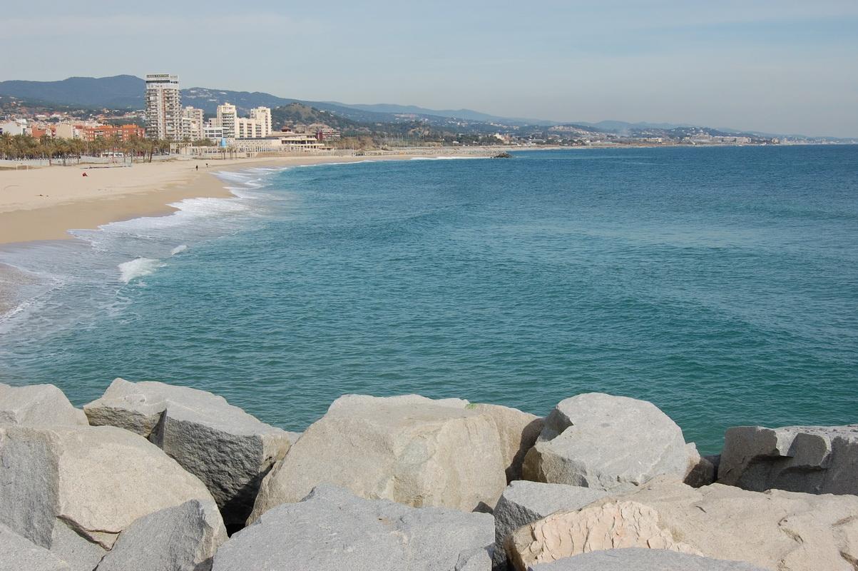 Foto playa El Callao. Playa de Mataró