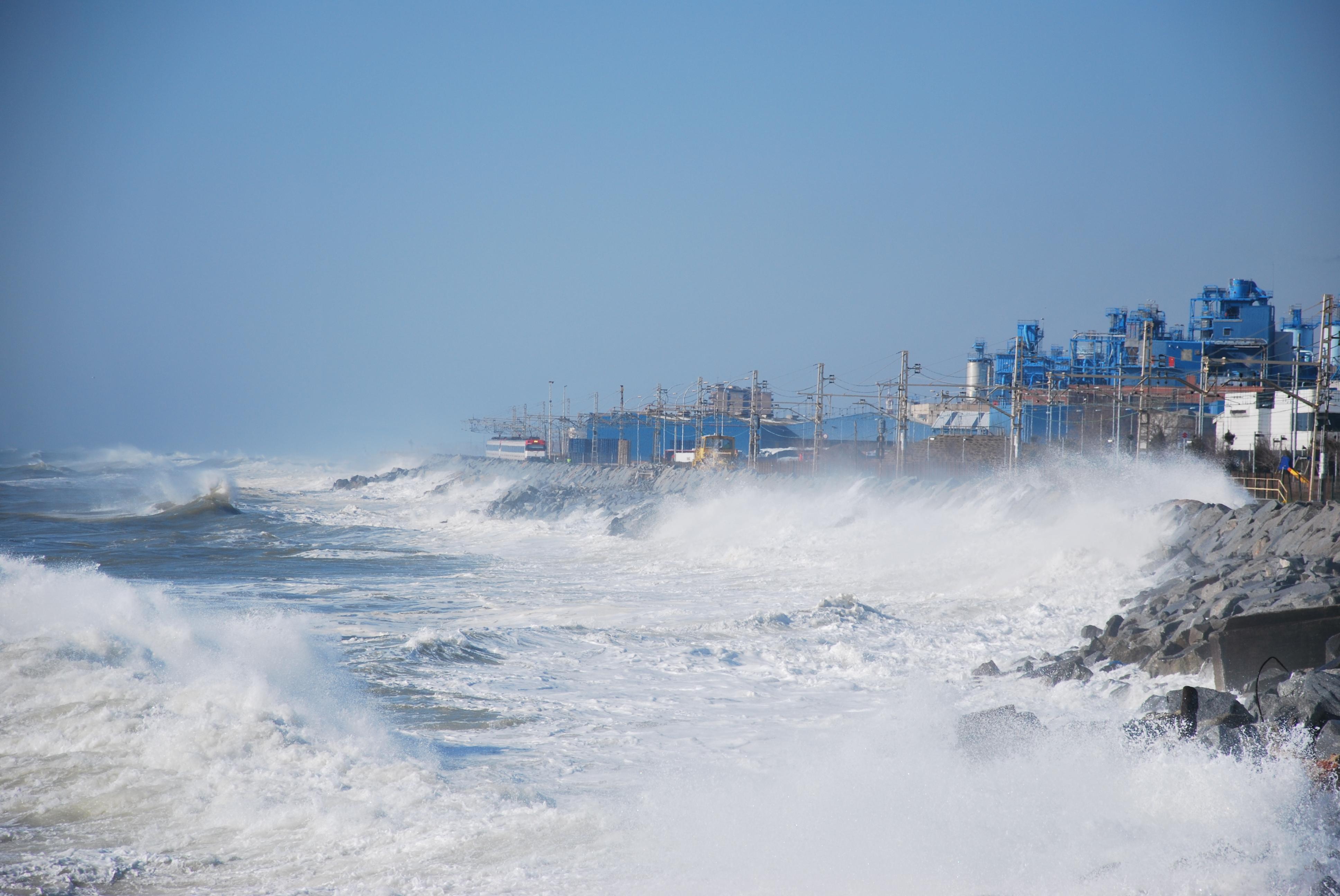 Foto playa Cabrera. Temporal 09.03.2010
