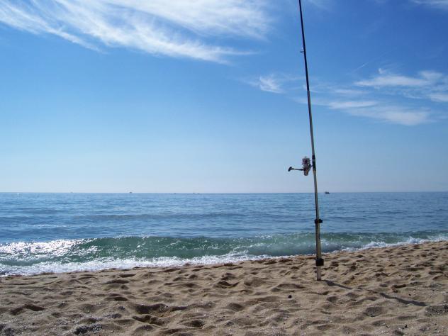 Foto playa Pla de Montgat. En soledad