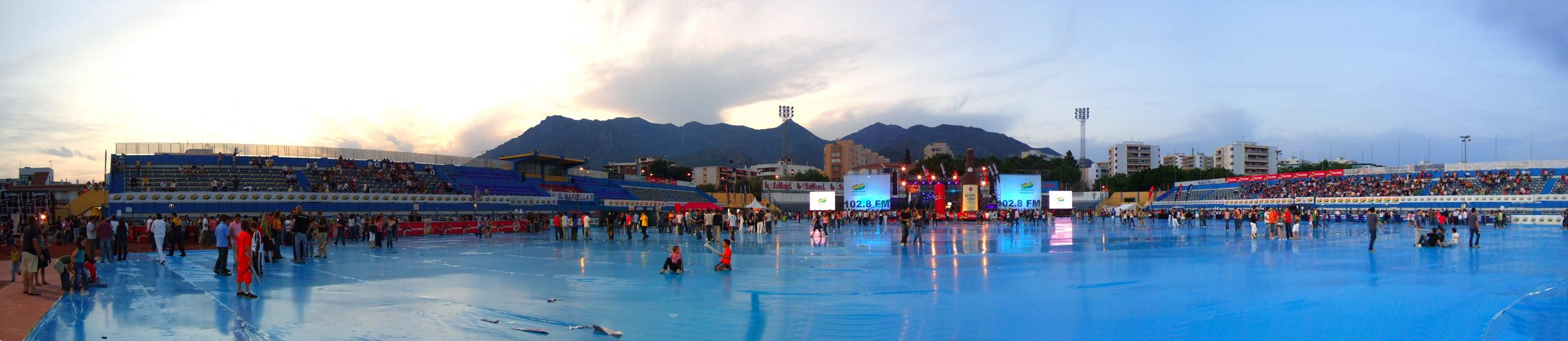 Foto playa El Cable. Marbella - estadio concierto