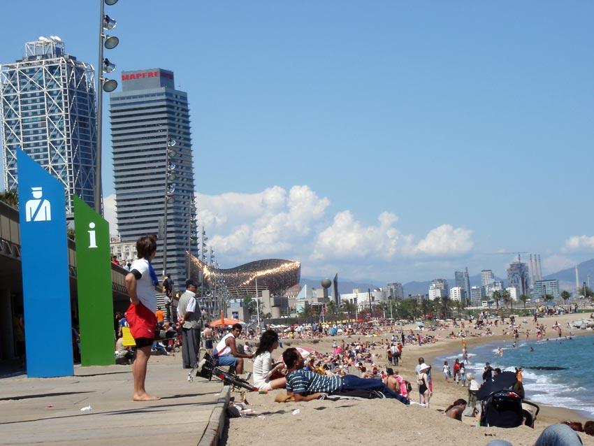 Foto playa La Barceloneta. [Untitled]
