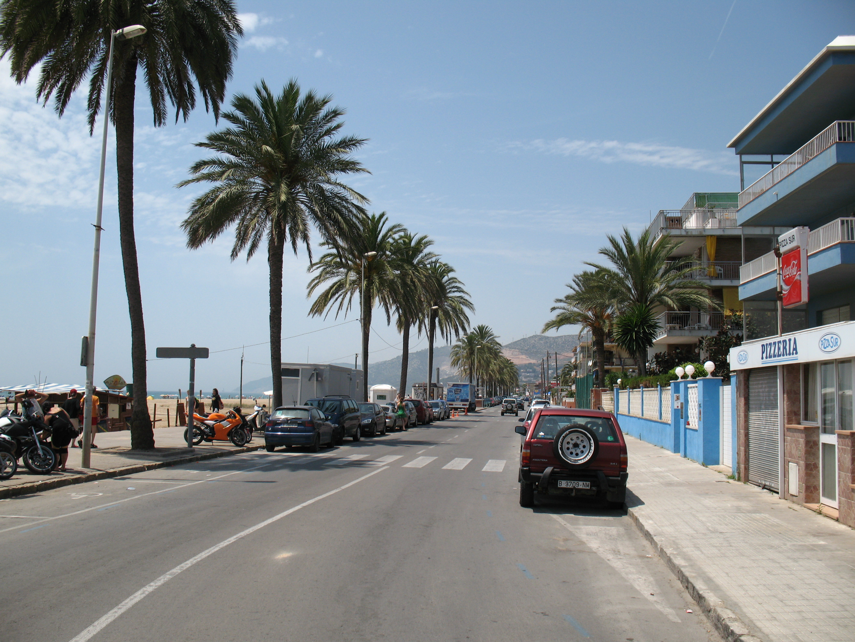 Foto playa Les Botigues. Paseig Maritim
