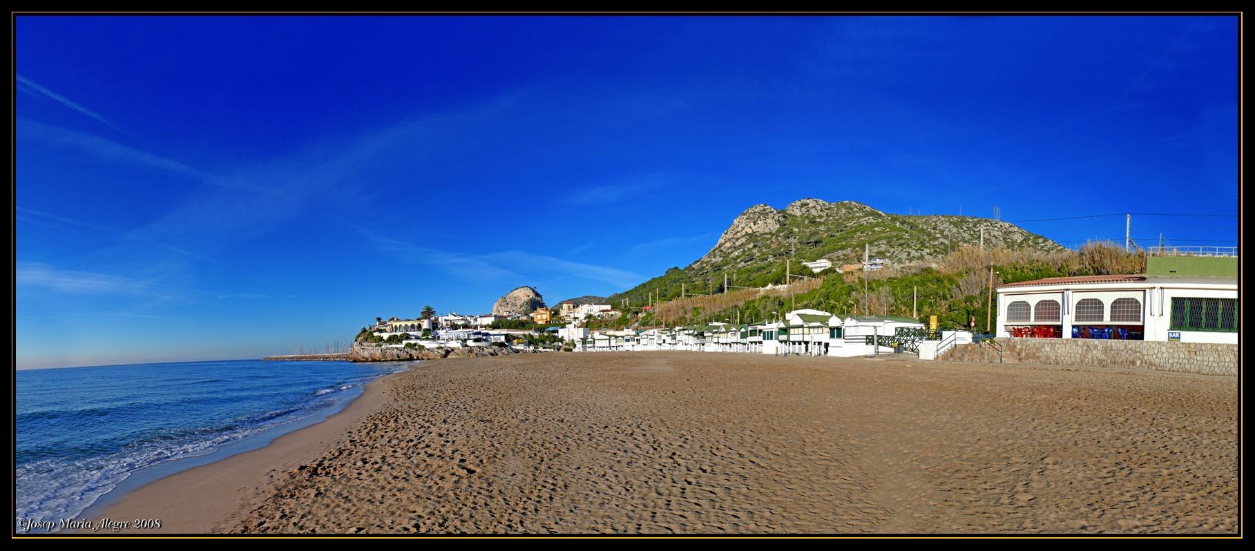 Foto playa Garraf. Playas de Sitges - Garraf