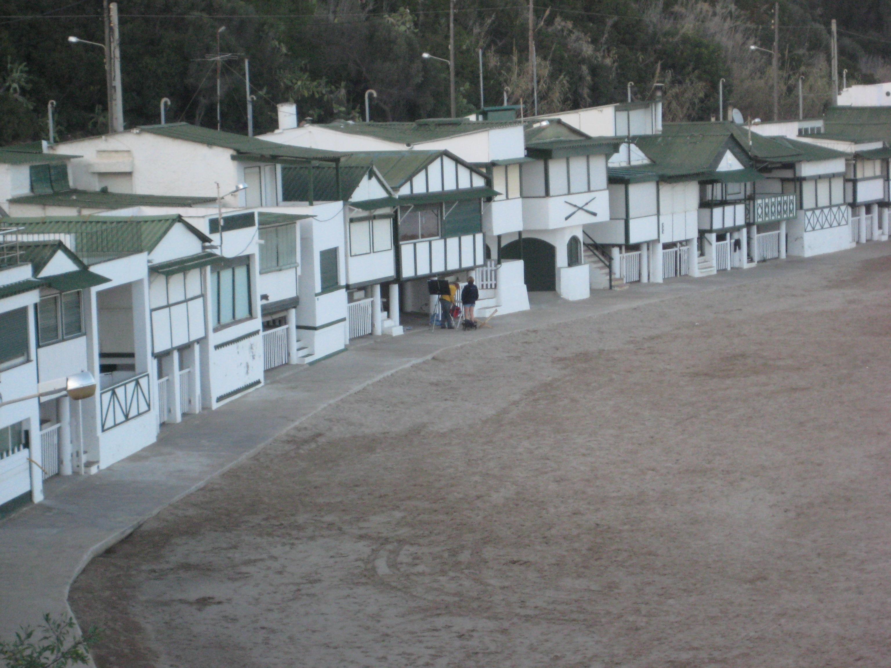 Foto playa Garraf. les casetes de Garraf