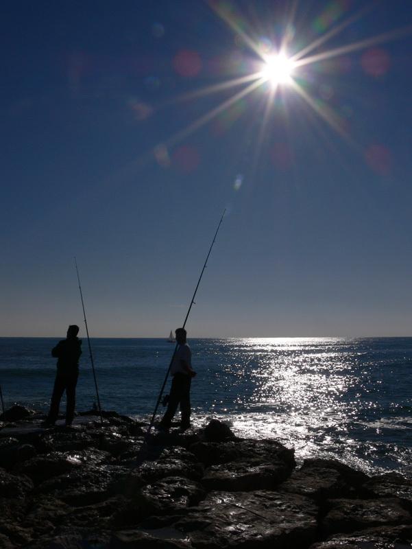 Foto playa La Riera Xica. De pesca