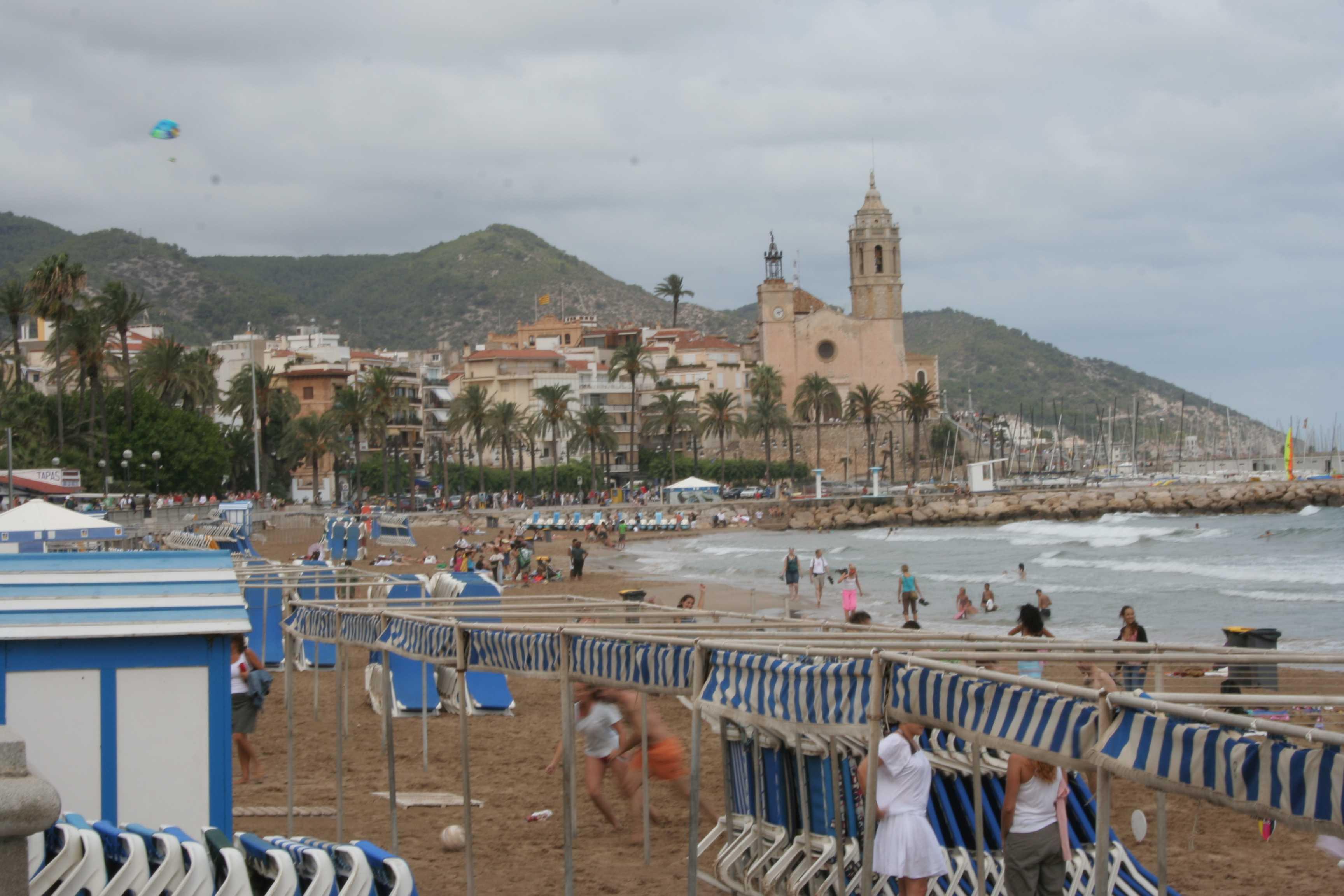 Foto playa La Riera Xica. Sitges 2006 002